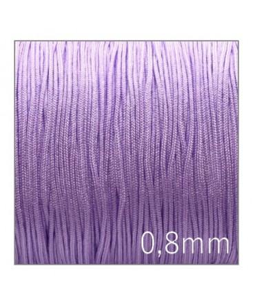 Fil nylon tressé 0,8mm lilas