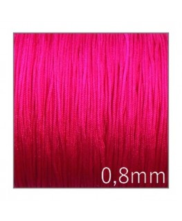5m Fil nylon tressé 0,7mm rose vif