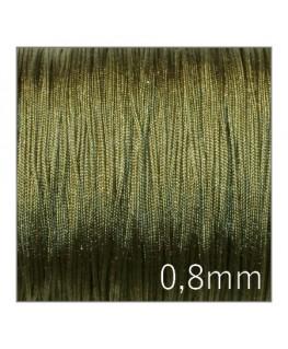 Fil nylon tressé 0,8mm vert kaki