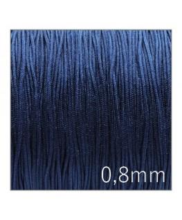 Fil nylon tressé 0,8mm bleu marine