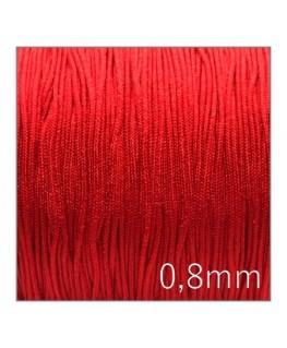 Fil nylon tressé 0,8mm rouge