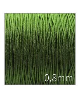 Fil nylon tressé 0,8mm vert