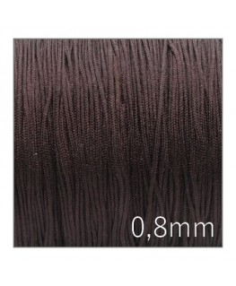 Fil nylon tressé 0,8mm marron