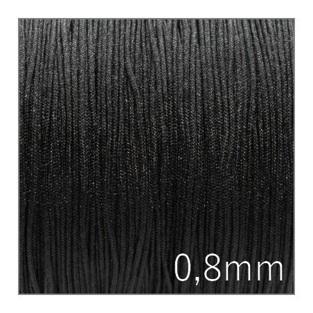 Fil nylon tressé 0,8mm noir