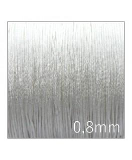Fil nylon tressé 0,8mm blanc