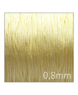 Fil nylon tressé 0,8mm jaune clair