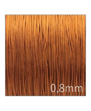 Fil nylon tressé 0,8mm caramel x5m