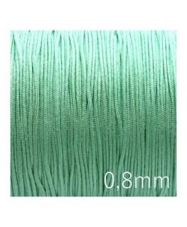 Fil nylon tressé 0,8mm vert pistache x5m
