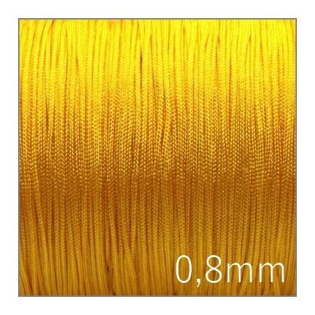 Fil nylon tressé 0,8mm jaune x5m