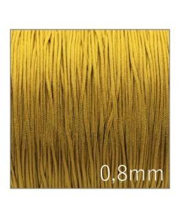 Fil nylon tressé 0,8mm moutarde or x5m