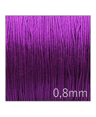 Fil nylon tressé 0,8mm violet x5m