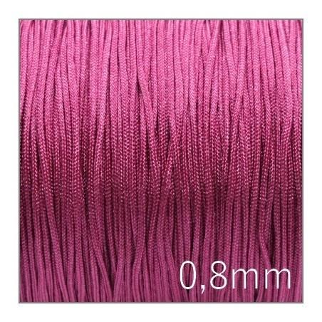 Fil nylon tressé 0,8mm rose fuchsia x5m