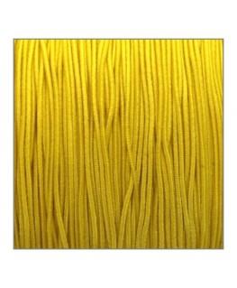 fil élastique gainé 1mm jaune