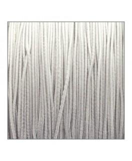 fil élastique gainé 1mm blanc