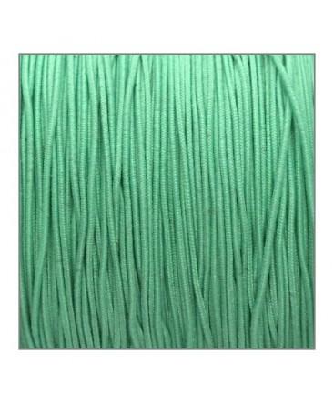 fil élastique gainé 1mm vert menthe