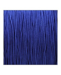 fil élastique gainé 1mm bleu marine