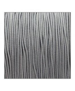 fil élastique gainé 1mm gris clair