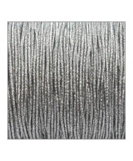 fil élastique gainé 1mm métallique argenté