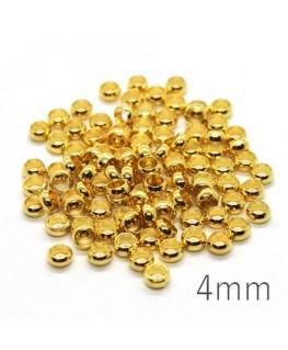 perles à écraser 4 mm doré x100