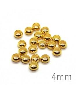 perles à écraser 4mm argenté x20