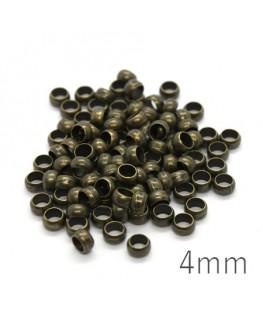 perles à écraser 4 mm bronze x100