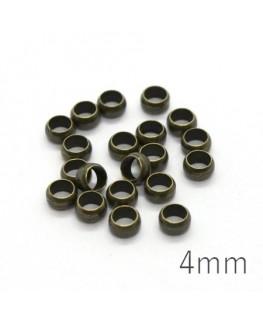 perles à écraser 4mm bronze x20