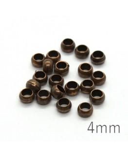 perles à écraser 4mm cuivre x20