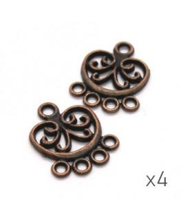 Breloques chandelier connecteur cuivre