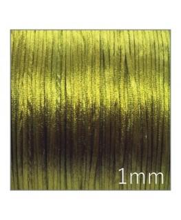 Cordon satin queue de rat 1mm vert olivine
