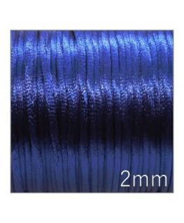 Cordon satin queue de rat 2mm bleu foncé