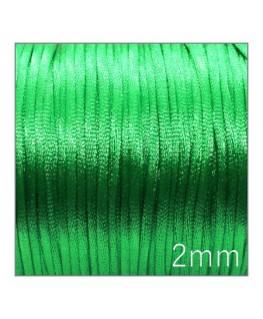 Cordon satin queue de rat 2mm vert clair