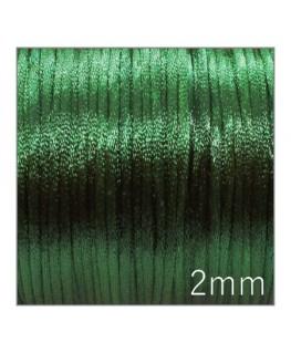Cordon satin queue de rat 2mm vert foncé