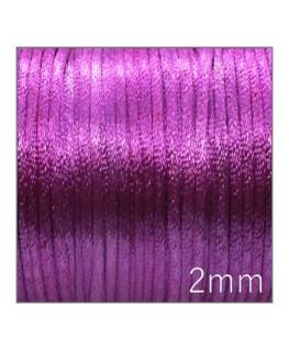 Cordon satin queue de rat 2mm violet