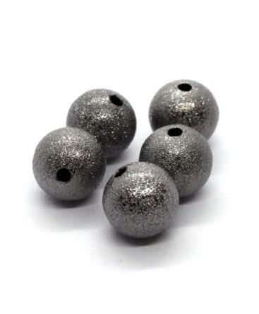 Perles stardust pailletées 12mm gunmetal x5