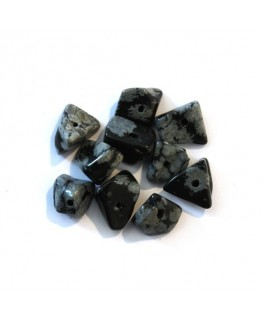 25 Chips obsidian snowflake