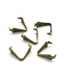 5 Bélières à griffes 11mm bronze