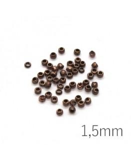 Mini perles à écraser 1,5mm cuivre x50