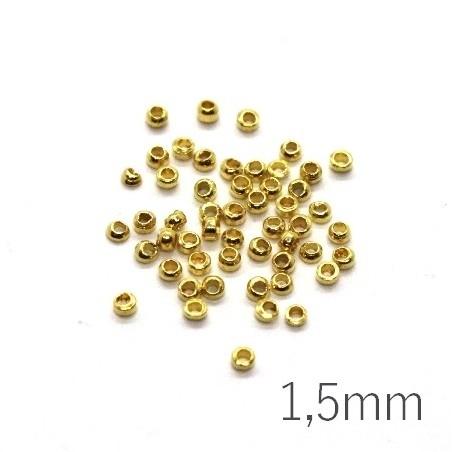 Mini perles à écraser 1,5mm doré x50