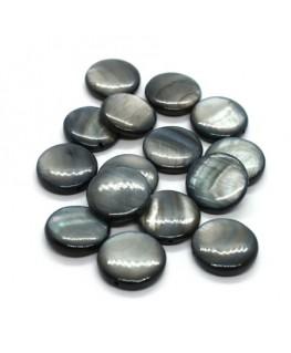 Perles en nacre palets 12mm gris x15