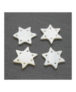 Perle étoile en nacre 15mm x4