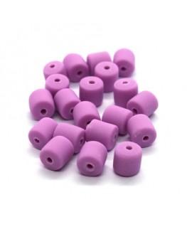 Perles fimo tonneau 6mm lilas x20