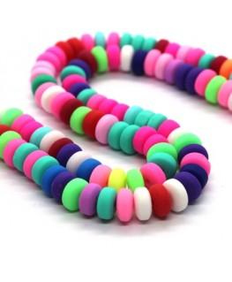 Assortiment de perles rondelles en Fimo