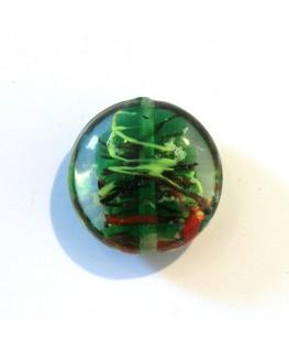 Disque en verre noyau vert sapin 20mm