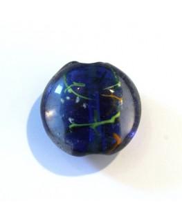 Disque en verre noyau bleu marine 20mm