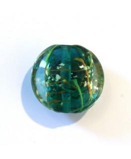 Disque en verre noyau émeraude 20mm