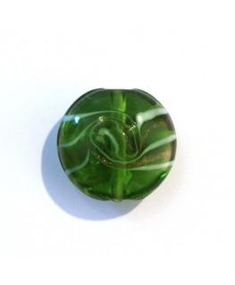Disque en verre tourbillon vert