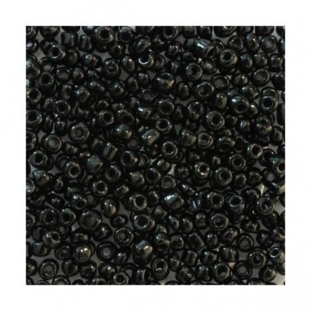 Perles de rocaille 4mm noir 20g