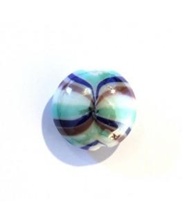 Disque en verre tourbillon émeraude
