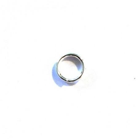 Anneau double 6mm argenté x10