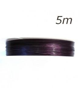 Fil câblé violet pour bijoux